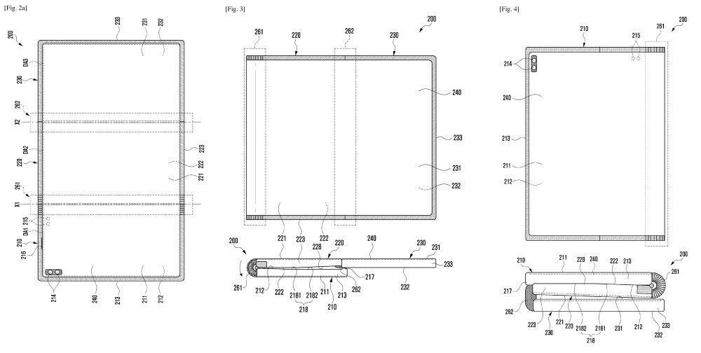 Patente Bisagra Z Samsung
