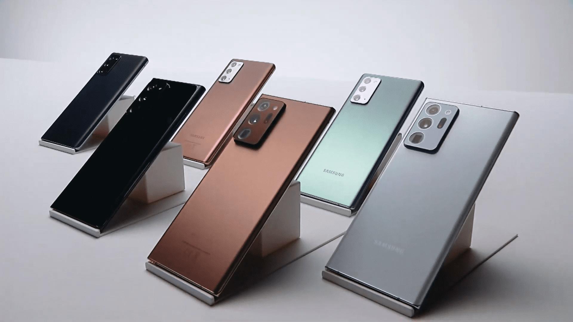 Galaxy Note 20 carga inalámbrica
