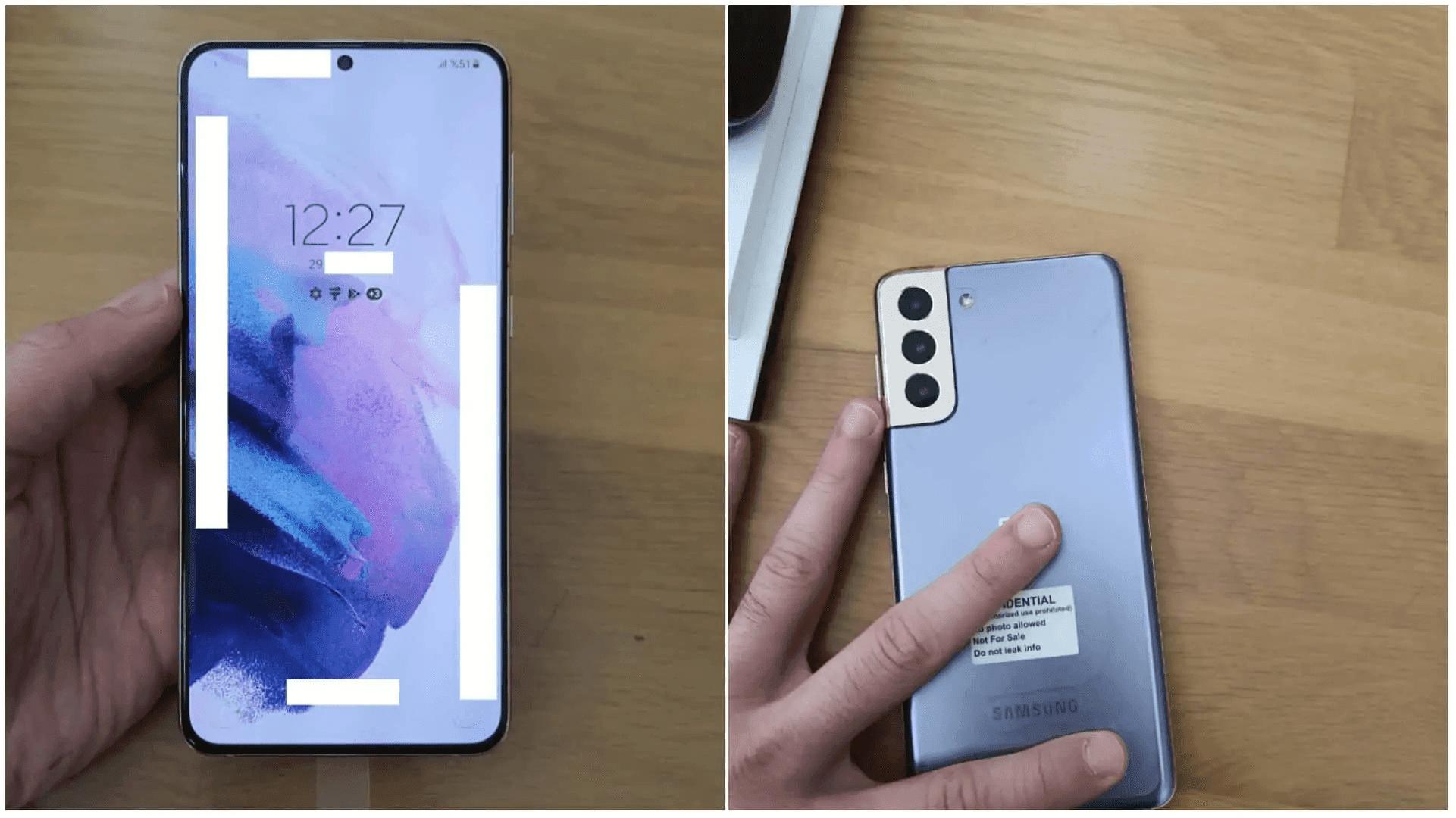 Filtradas imágenes reales del Samsung Galaxy S21