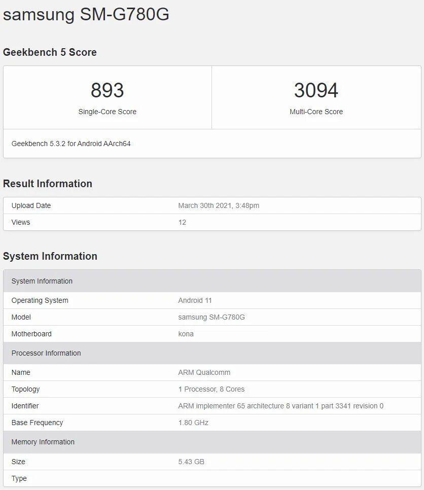 Galaxy S20 FE 4G Snapdragon 865