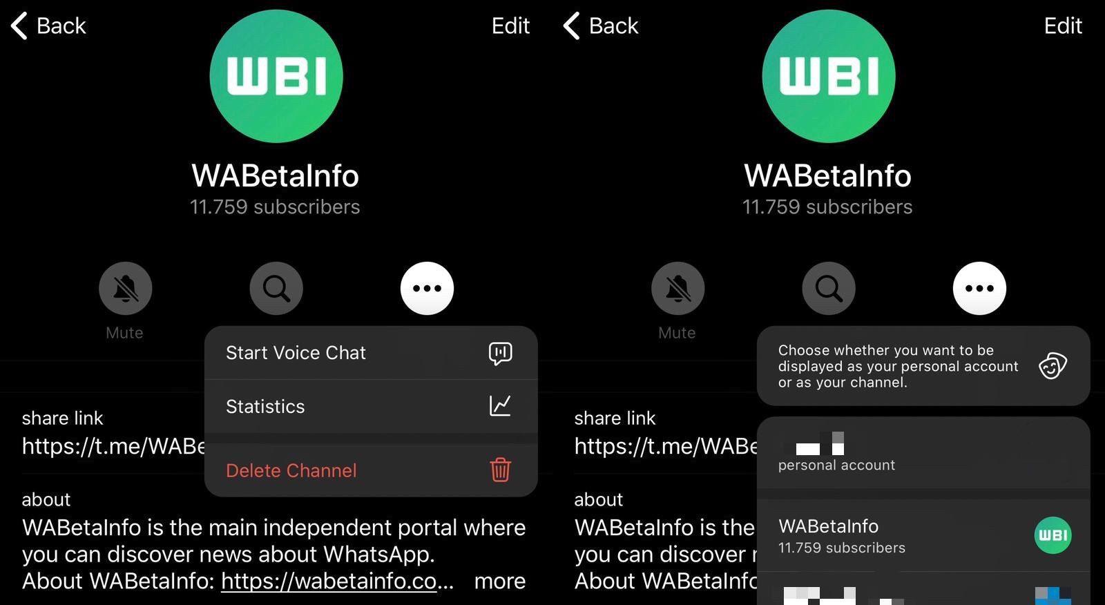 clubhouse en Telegram wabetainfo universosamsung