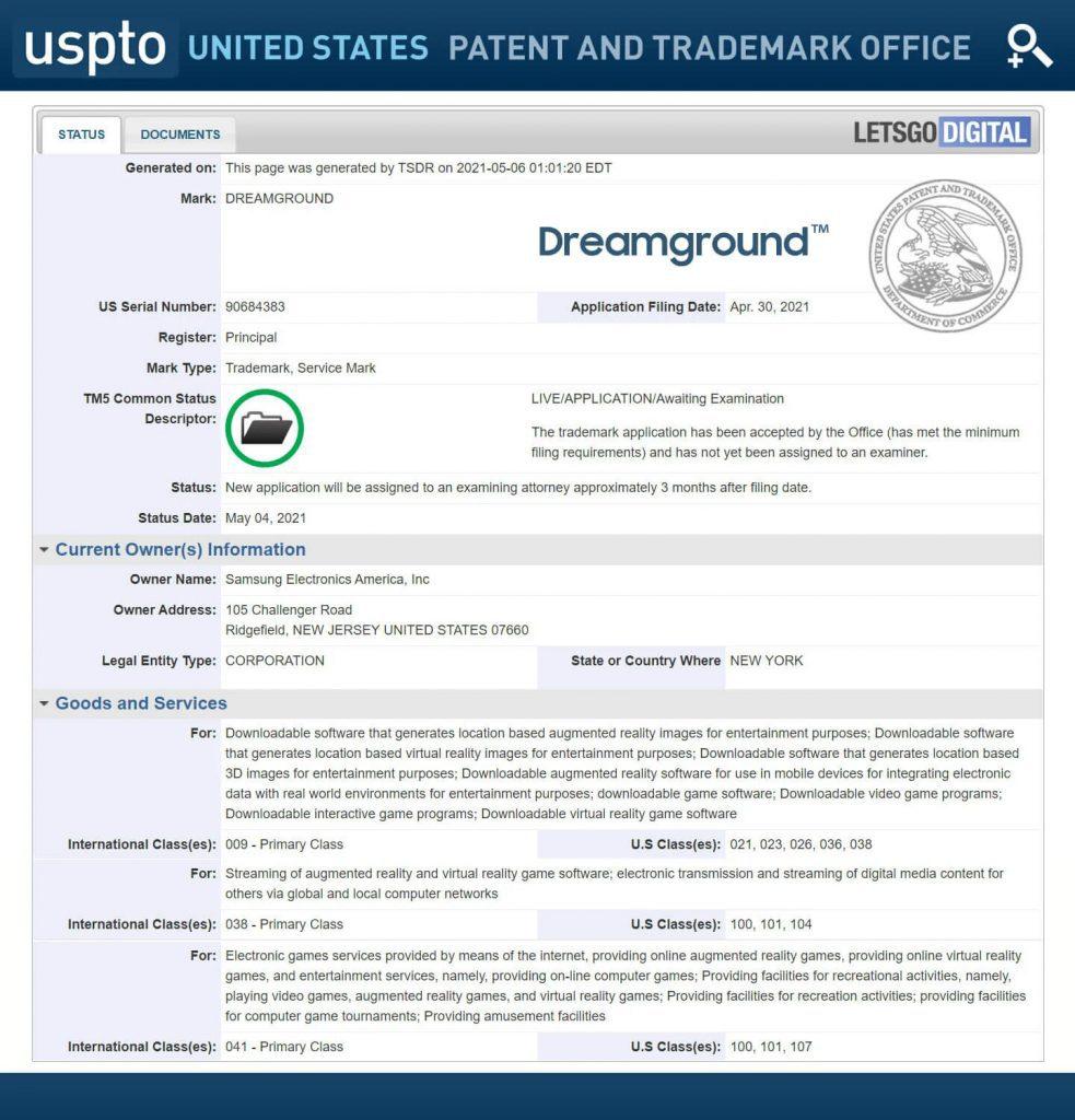 samsung dreamground