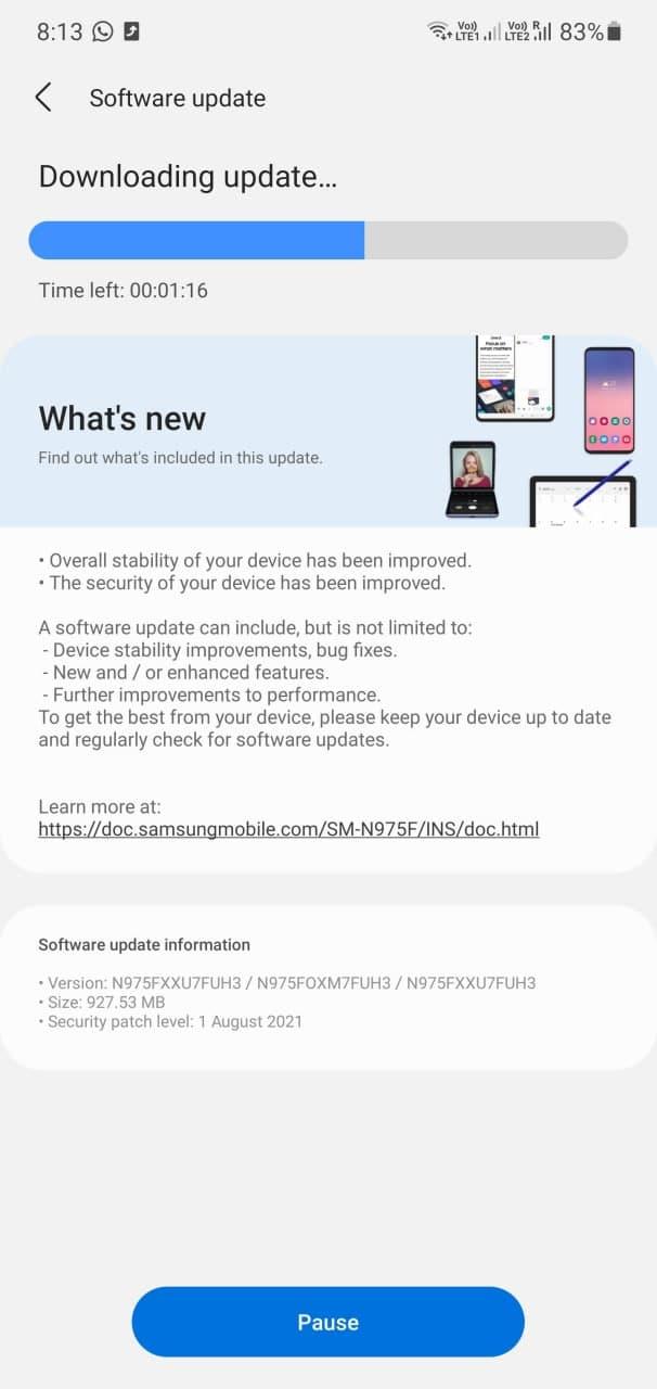 One UI 3.1.1 - Galaxy Note 10
